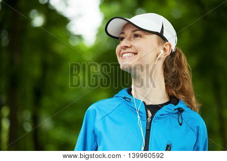 Cheerful Young Woman Ready To Start Her Morning Workout.