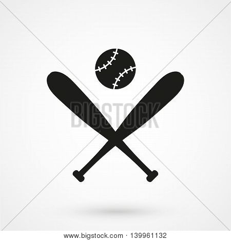 Baseball Icon On A White Background. Simple Vector Illustration