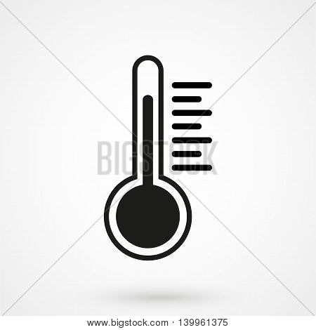 Thermometer Icon On A White Background. Simple Vector Illustration