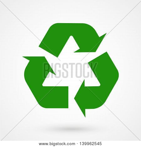 Green Update Icon On A White Background. Simple Vector Illustration