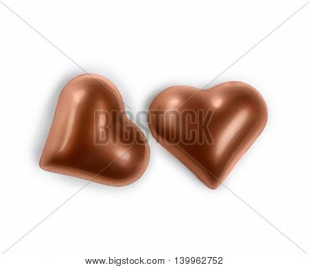 chocolate candy in the form of heart