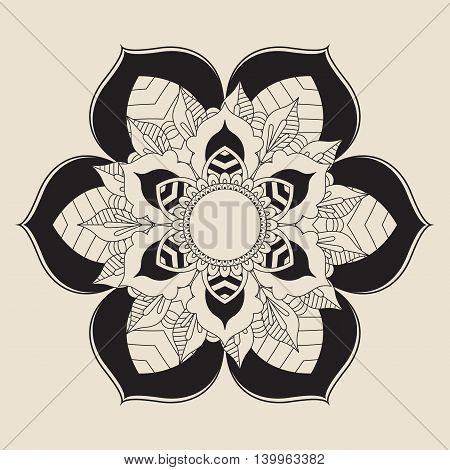Outline Mandala for coloring book. Decorative round ornament. Easy to manipulate, re-size or colorize.