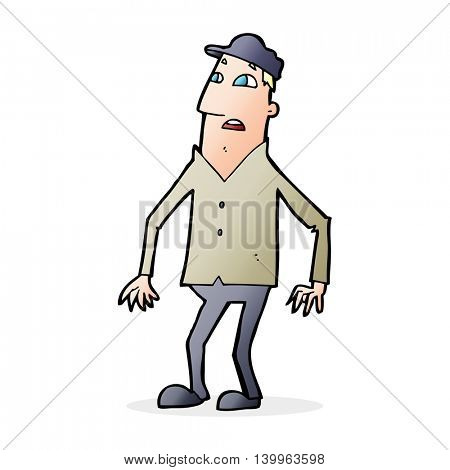 cartoon shocked man
