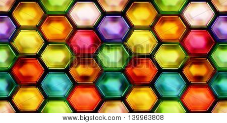 Seamless texture of abstract shiny colorful crystal 2D illustration
