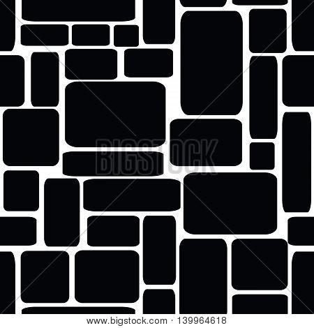 Seamless vector illustration of stone bricks background