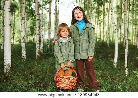 Children In Forest.