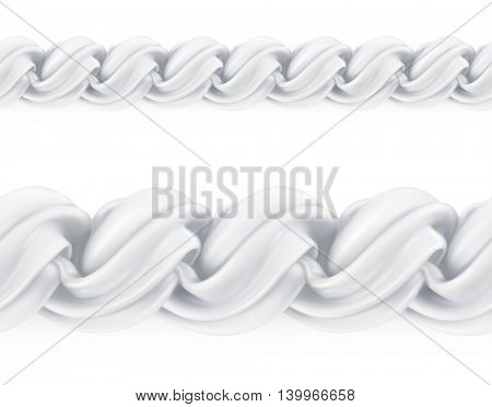 Whipped cream, vector seamless pattern mesh