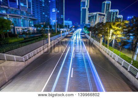 traffic at night,china.