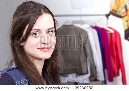 Woman Tailor Working On Dress At Work  Fashion Designer