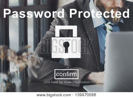 Password Protected Private Policy Concept