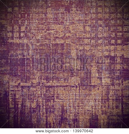 Grunge background for a creative vintage style poster. With different color patterns: yellow (beige); brown; purple (violet); pink