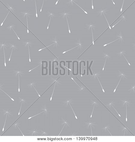 Abstract Dandelion Seed Seamless Pattern Background Vector Illustration EPS10