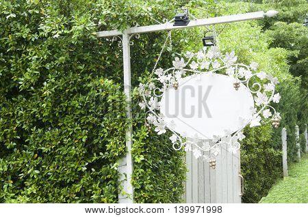 Label. Vintage Hanging sign. vintage cutout hanging