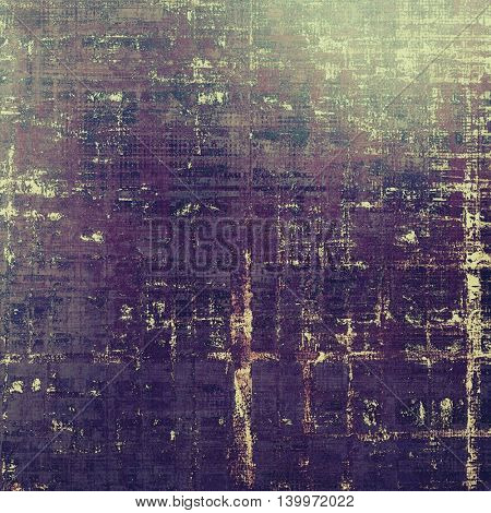 Grunge old texture used as abstract vintage style background. With different color patterns: yellow (beige); brown; gray; green; purple (violet); pink
