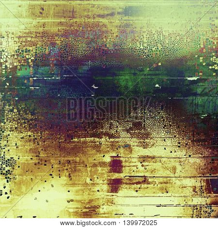 Retro style grunge background, mottled vintage texture. With different color patterns: yellow (beige); brown; green; blue; purple (violet); cyan