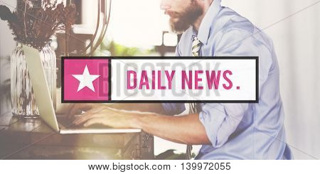 Daily News Information Media Newspaper Report Concept