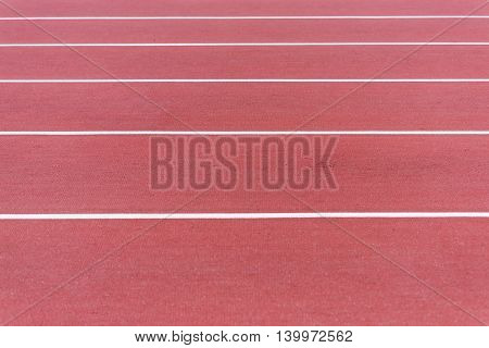 Close Up On Running Track, Athletic Bacground