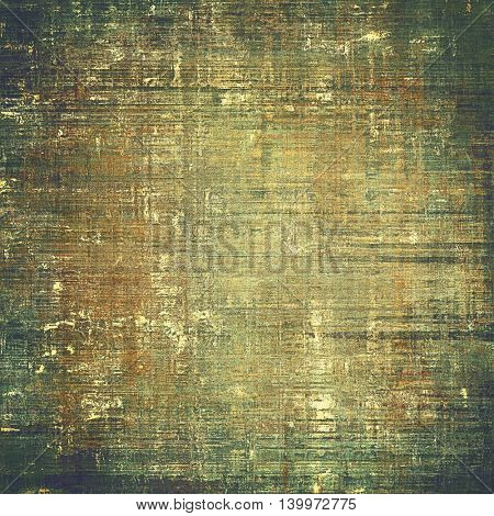Aged textured background, macro closeup grungy backdrop with different color patterns: yellow (beige); brown; gray; black; green