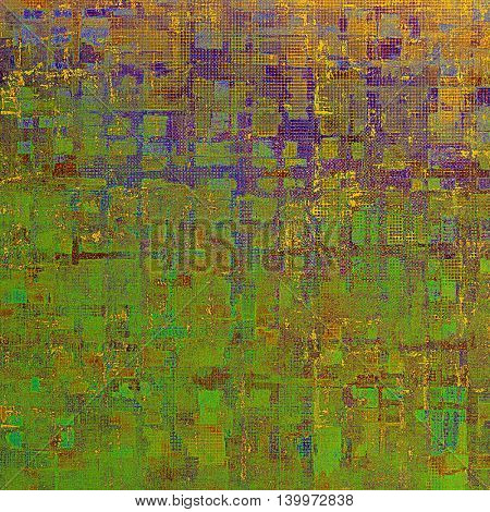 Art grunge background, vintage style textured frame. With different color patterns: yellow (beige); brown; green; blue; red (orange); purple (violet)