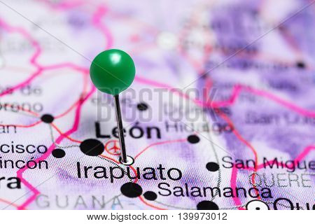 Irapuato pinned on a map of Mexico