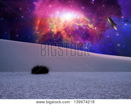 White Sands Fantasy Landscape Elements of this image furnished by NASA