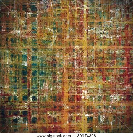 Abstract grunge background or damaged vintage texture. With different color patterns: yellow (beige); brown; green; blue; red (orange); pink