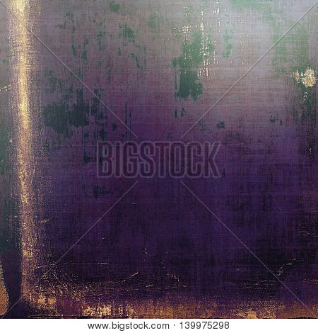 Vintage and retro design elements on faded grunge background. With different color patterns: yellow (beige); brown; gray; black; blue; purple (violet)