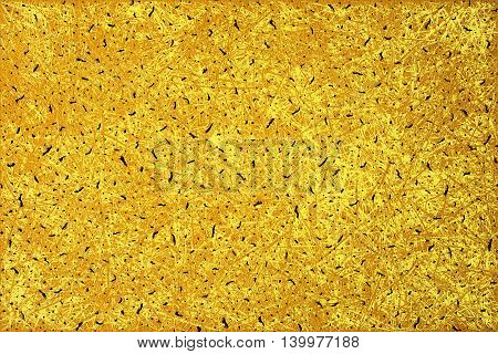 Golden Abstract Grunge Paper Macro Texture Scratched Styled