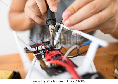 Welding on board of drone