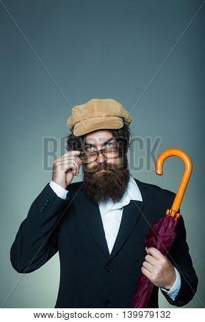 Handsome Bearded Hipster Man