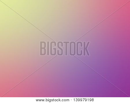 Abstract gradient rainbow yellow pink purple colored blurred background.
