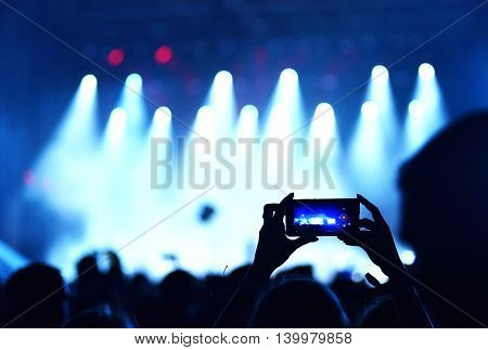 Mobile Phone Recording Live Concert