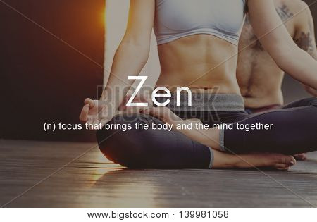 Zen Spirituality Buddhism Body and Mind Meditation Concept
