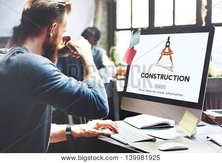 Construction Architecture Hardhat Helmet Site Concept