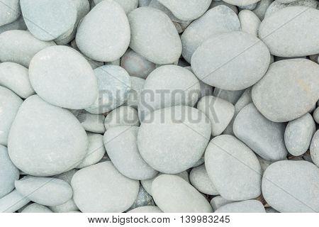 closeup view of white pebble.