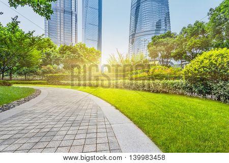 shanghai central park,china.
