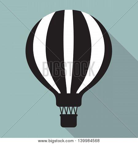 flat easy balloon black white vector design