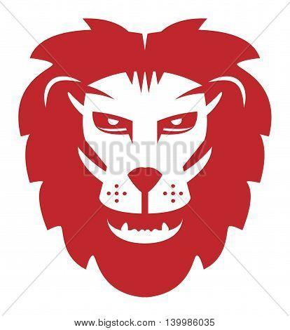 Lion symbol on white background, vector illustration