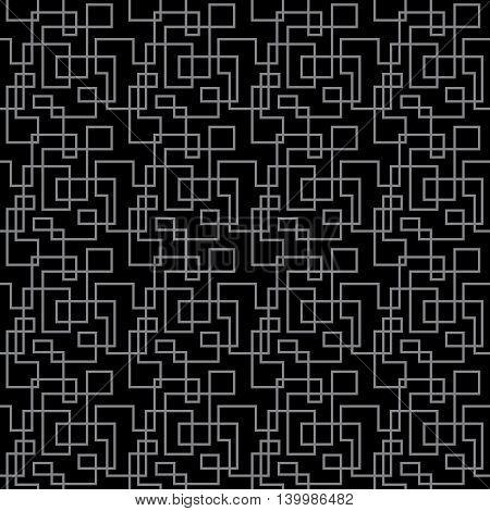 Gray sharp lines on black pattern seamless background