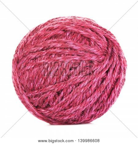 purple yarn ball, isolated on white background