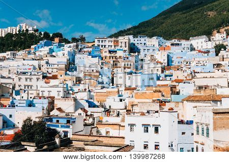 Landscape of the famous moroccan destination - Chefchaouen Morocco
