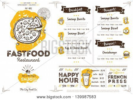 pizza restaurant menu design fast food cafe menu food menu