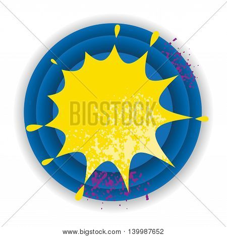 Abstract color star burst sign, vector illustration