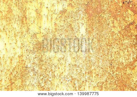 a yellow Background of old rusty metal