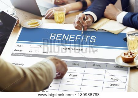 Retirement Plan Insurance Benefits Healthcare Concept