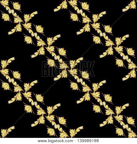 Pattern diagonal in the form of abstraction on a black background