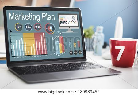 Marketing Plan Statistics Strategy Concept