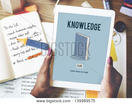 Knowledge Education Academic Book Study Concept