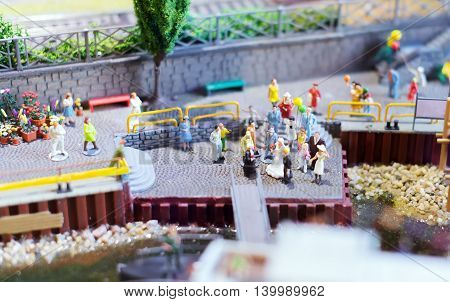 City In Miniature. Wedding Near The Pier.