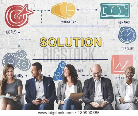 Solution Decision Ideas Problem Solving Strategy Concept